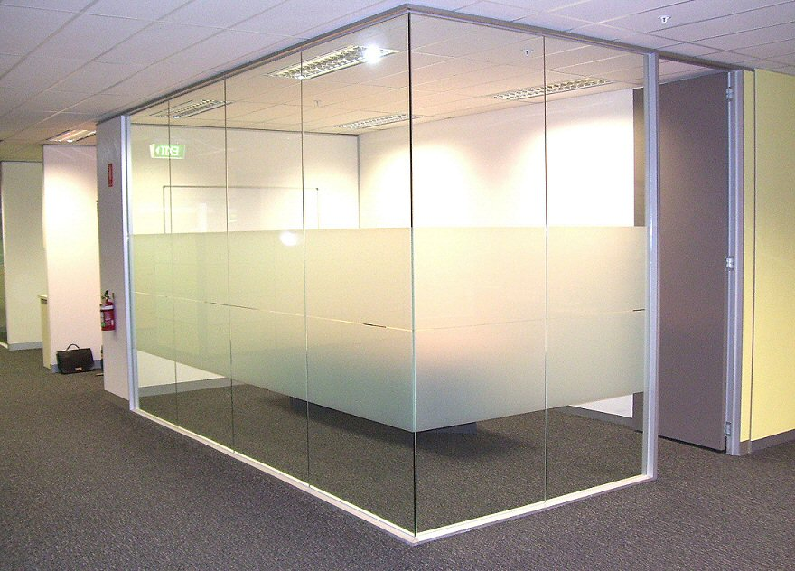 Fairview Glass Office Partitions | NJ Glass Company