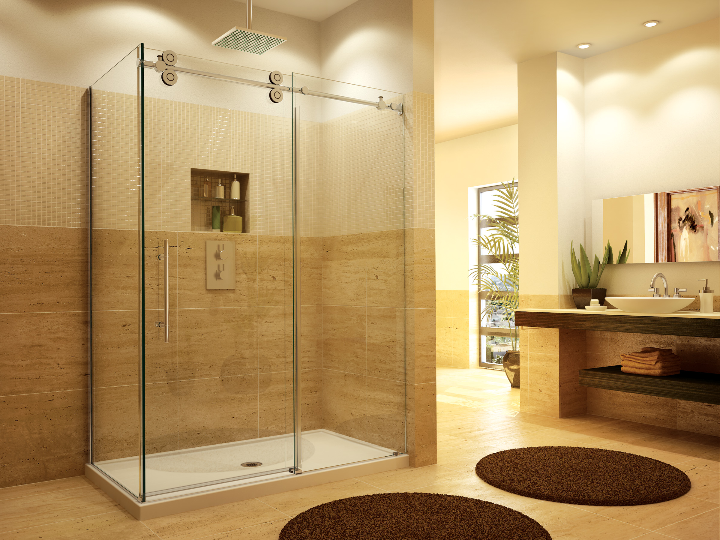 Glass shower door installation in franklin lakes nj glass for Cool shower door ideas