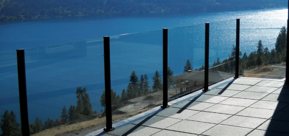Custom Glass Railings in Bergen County